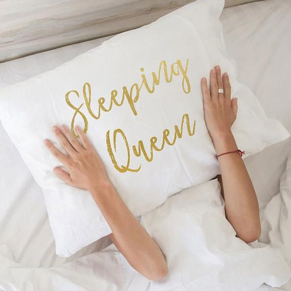 Wedding Night Gift For Wife: Sleeping Queen Gift Nap Queen Pillow Gift For Her Wife