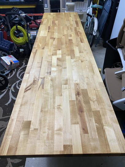 Hardwood Reflections Unfinished Birch 10 Ft L X 25 In D X 1 5 In T Butcher Block Countertop 1525hdbbb 120 The Home Depot In 2020 Butcher Block Countertops Diy Butcher Block Countertops Butcher Block