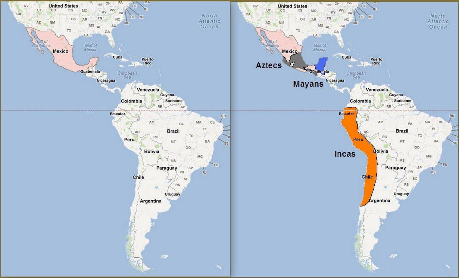 Aztecs Vs Incas Chart