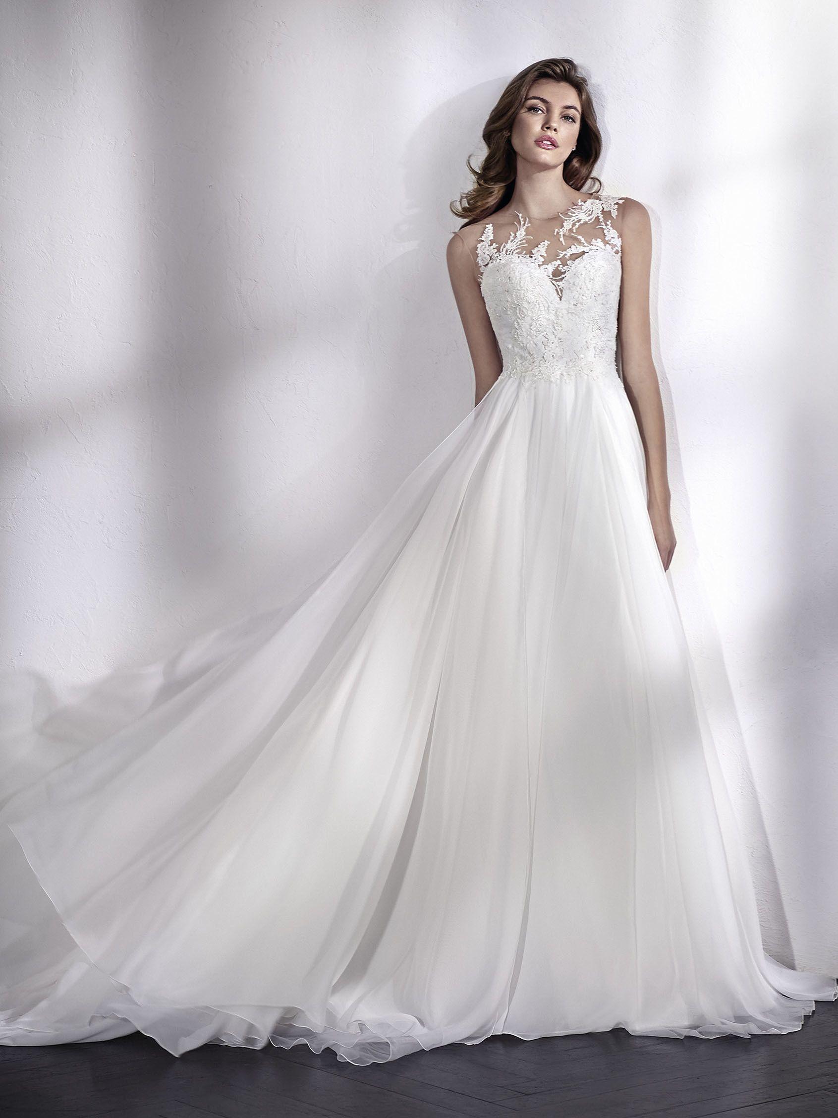 9a56b983acab LEIZAL abito da sposa chiffon