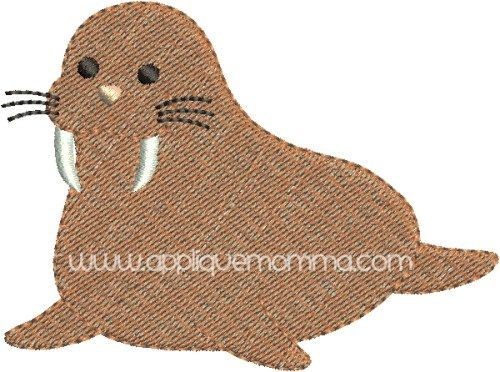 Walrus Mini Embroidery Design Mostly Sewing Pinterest