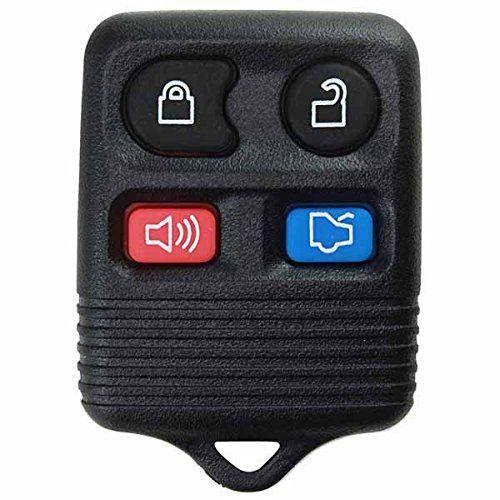 Keylessoption Black Replacement 4 Button Keyless Entry Remote Control Key Fob Clicker Fully Tested Compl Key Fob Replacement Keyless Entry Systems Car Key Fob