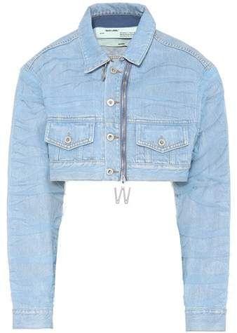 Cropped Denim Jacket Cropped Denim Jacket Denim Jacket Trend Off White Jacket
