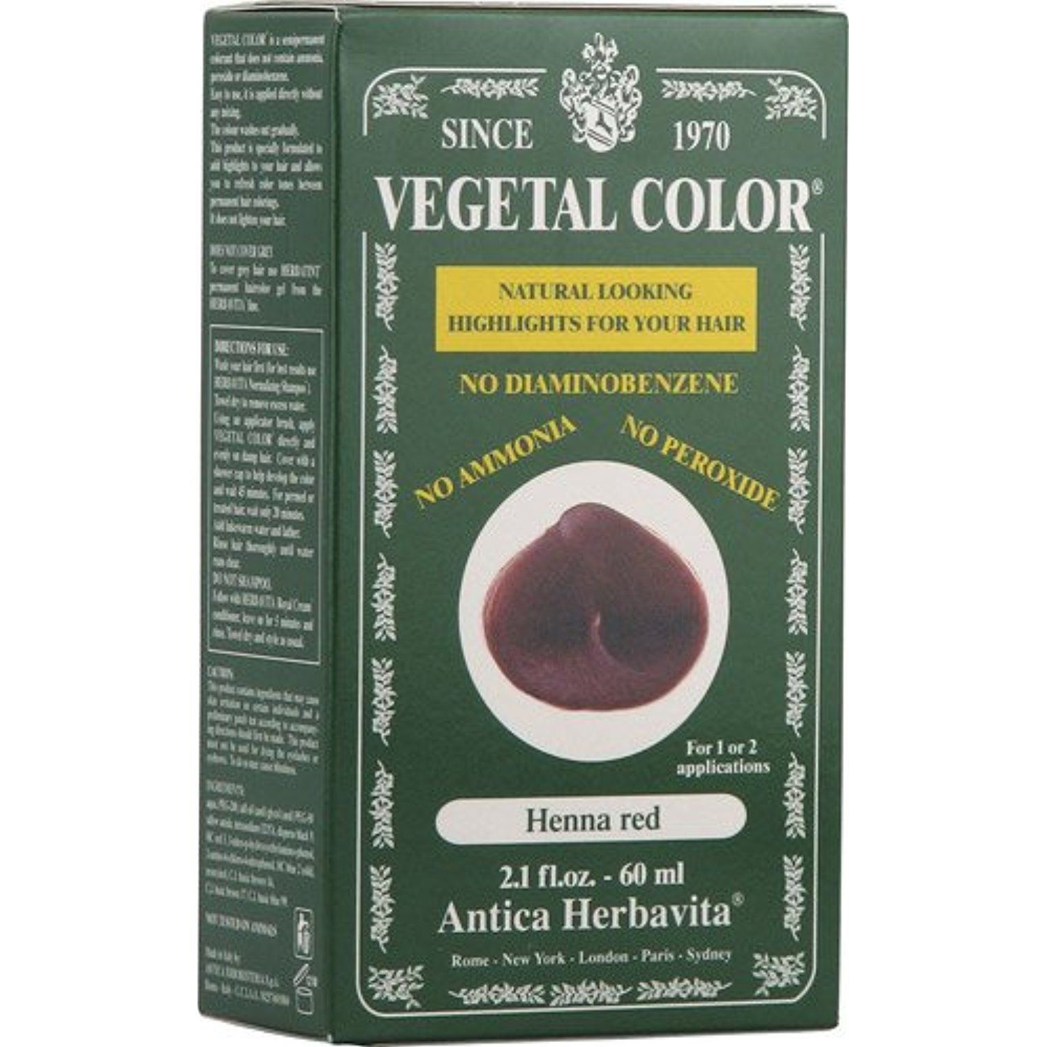Herbatint Vegetal Hair Color Henna Red 4 Fluid Ounce Want To