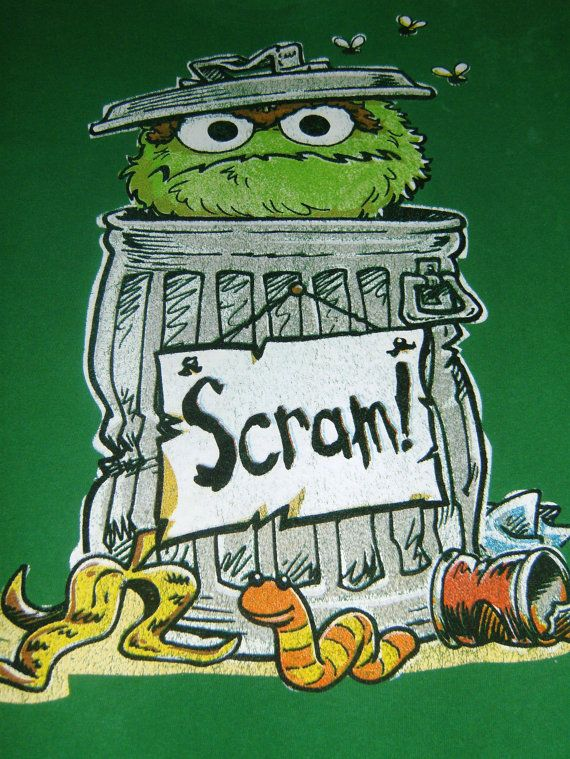 0e6f3d07410c Vintage Green T Shirt Sesame Street Oscar the by OldTimeTees, $22.99 ...