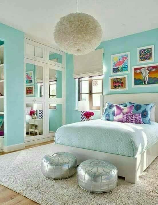 Blaue Mädchen Schlafzimmer, Türkisfarbene Schlafzimmer, Kinderschlafzimmer,  Mädchenzimmer, Kinderschlafzimmer Ideen, Schlafzimmer Einrichtungsideen, ...