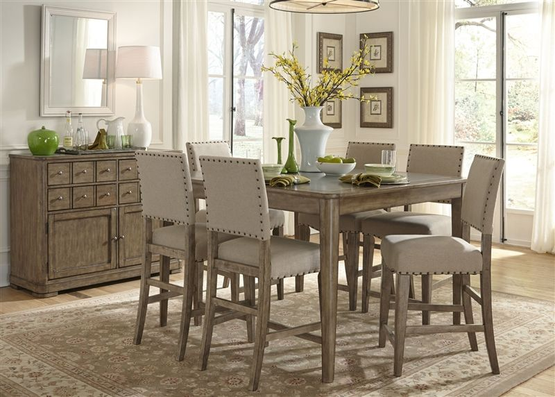 Weatherford Gathering Table 5 Piece Counter Height Dining Set In Delectable Height Dining Room Table Decorating Inspiration