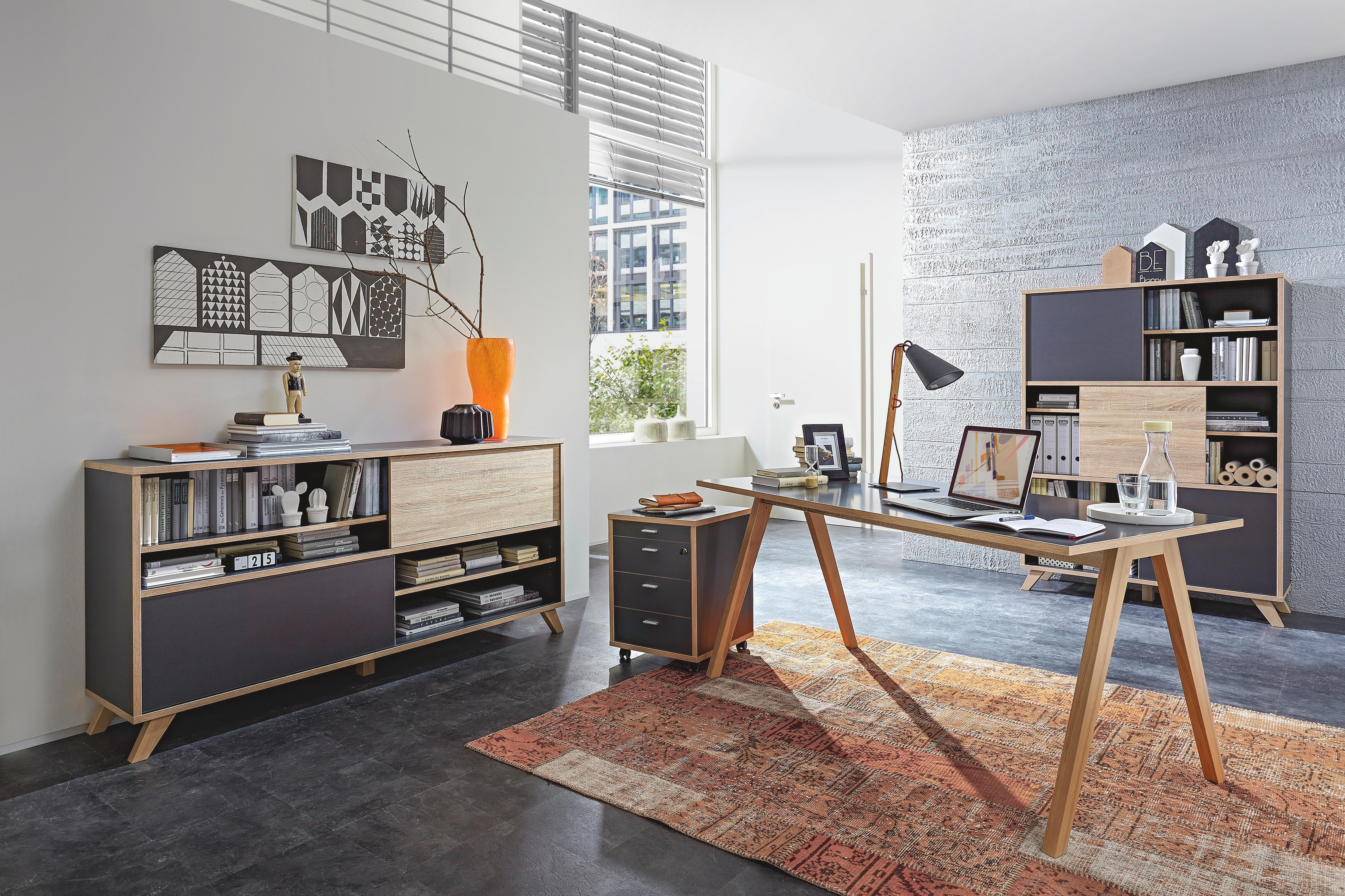 Gestalte Dein Arbeitszimmer Im Retrostil Http Www Xxxlshop De Produkte Suche Fh Search 12580077 Tg Mc Itl Sideboard Modern Wohnzimmer Sideboard Schreibtisch