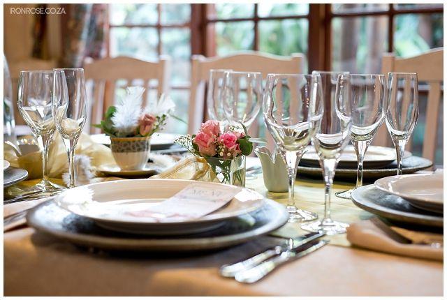 Elegant Table Accessories At Deja Vu Wedding Venue Pretoria