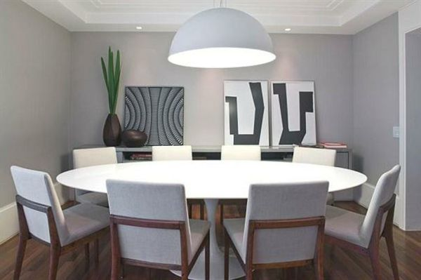 Idee deco salle a manger avec table ronde