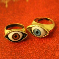 Vintage Eye-Shaped Decorated Ring For Women (COLOR ASSORTED,ONE SIZE) China Wholesale - Sammydress.com