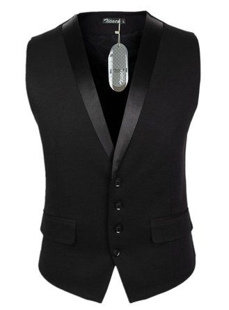 Zicac Men s Gentleman Top Design Casual Waistcoat Business Suit Vest (L Asia  Tag 3XL badb7ca0ac9