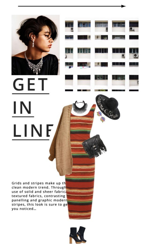 """in line"" by miss-milika ❤ liked on Polyvore featuring moda, Lipsy, Stella Jean, Linda Farrow, Eugenia Kim, Zara, Topshop, Proenza Schouler, Fall e stripes"