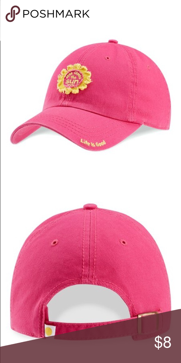 """NWT Life is good hat! Poppin Pink """"Life is Good"""" hat! Sold d02fae3f4ae"""