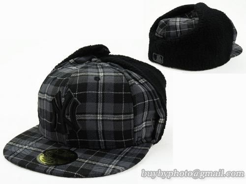 Cheap Wholesale Mlb New York Yankees Winter Caps Earflaps Hats Grid For Sale Mlb Fitted Hats Fitted Hats Winter Cap Fashion Cap
