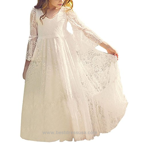 Fancy A-line Lace Flower Girl Dress 2-12 Year Old http://www ...