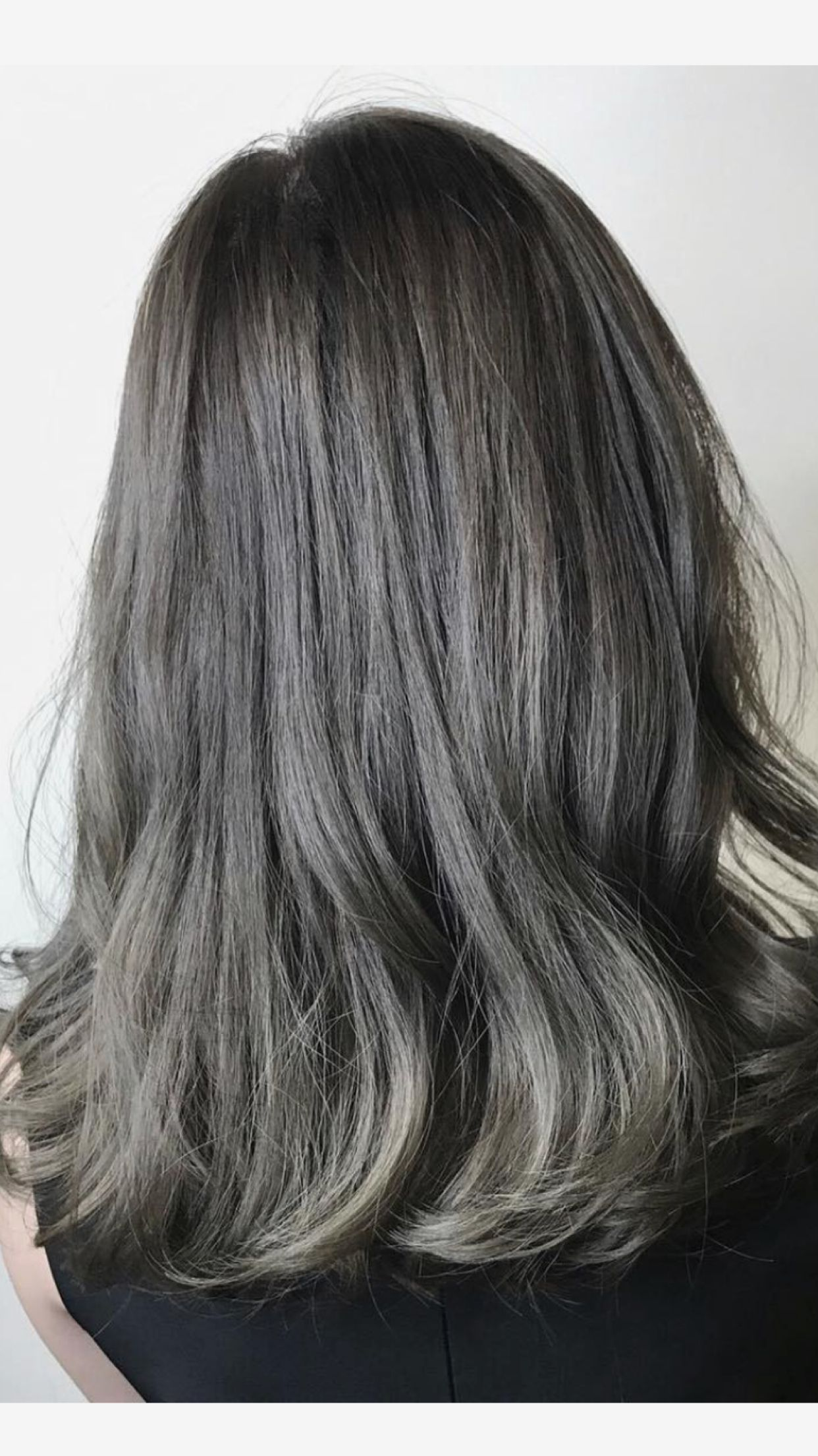 Ash Brown Grey Hair Color Balayage Ombre Ash Brown Hair Color