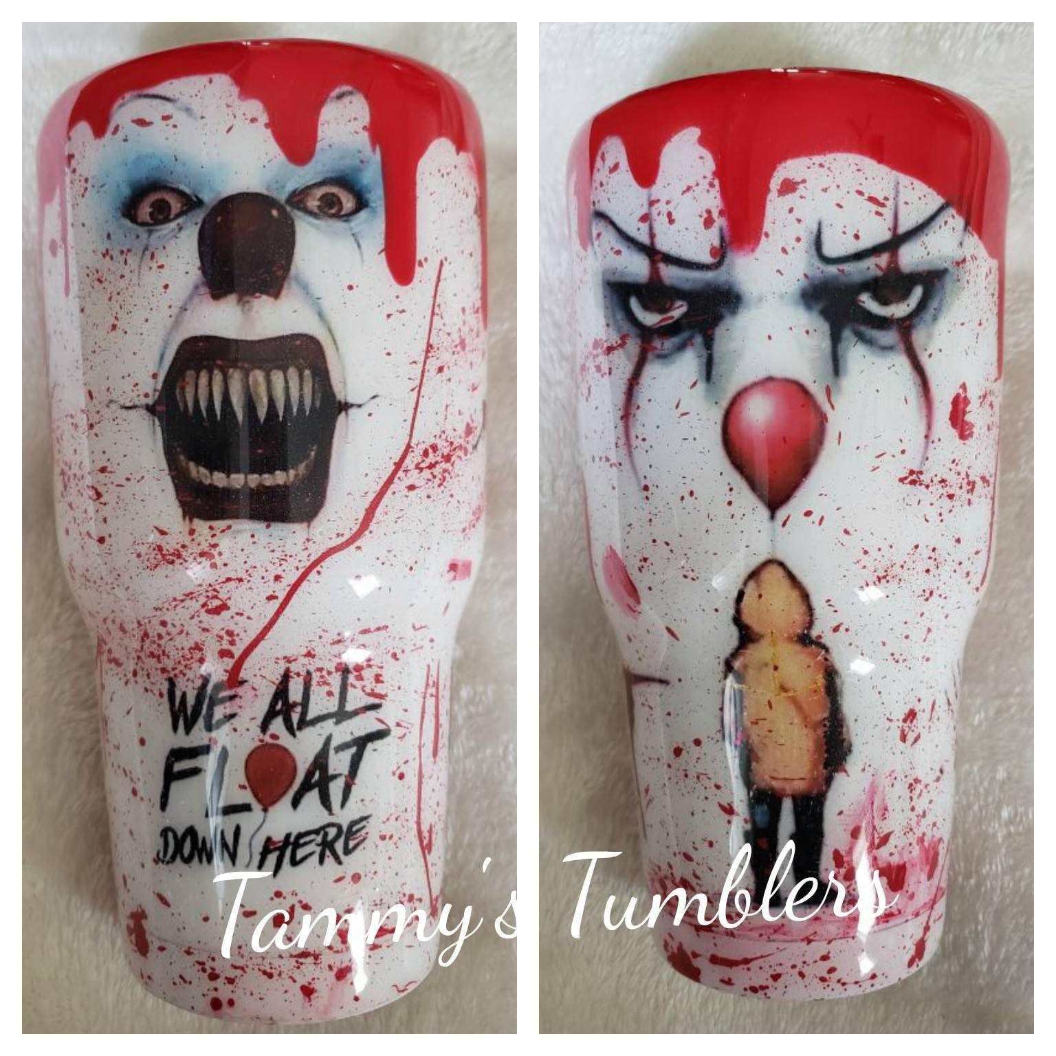 Horror Characters inspired Tumbler Cut
