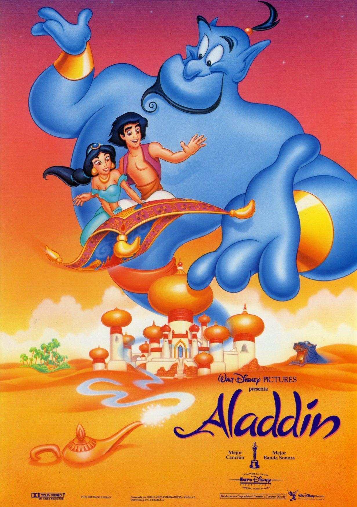 Aladdin Carteles De Peliculas De Disney Carteles De Disney Peliculas De Animacion