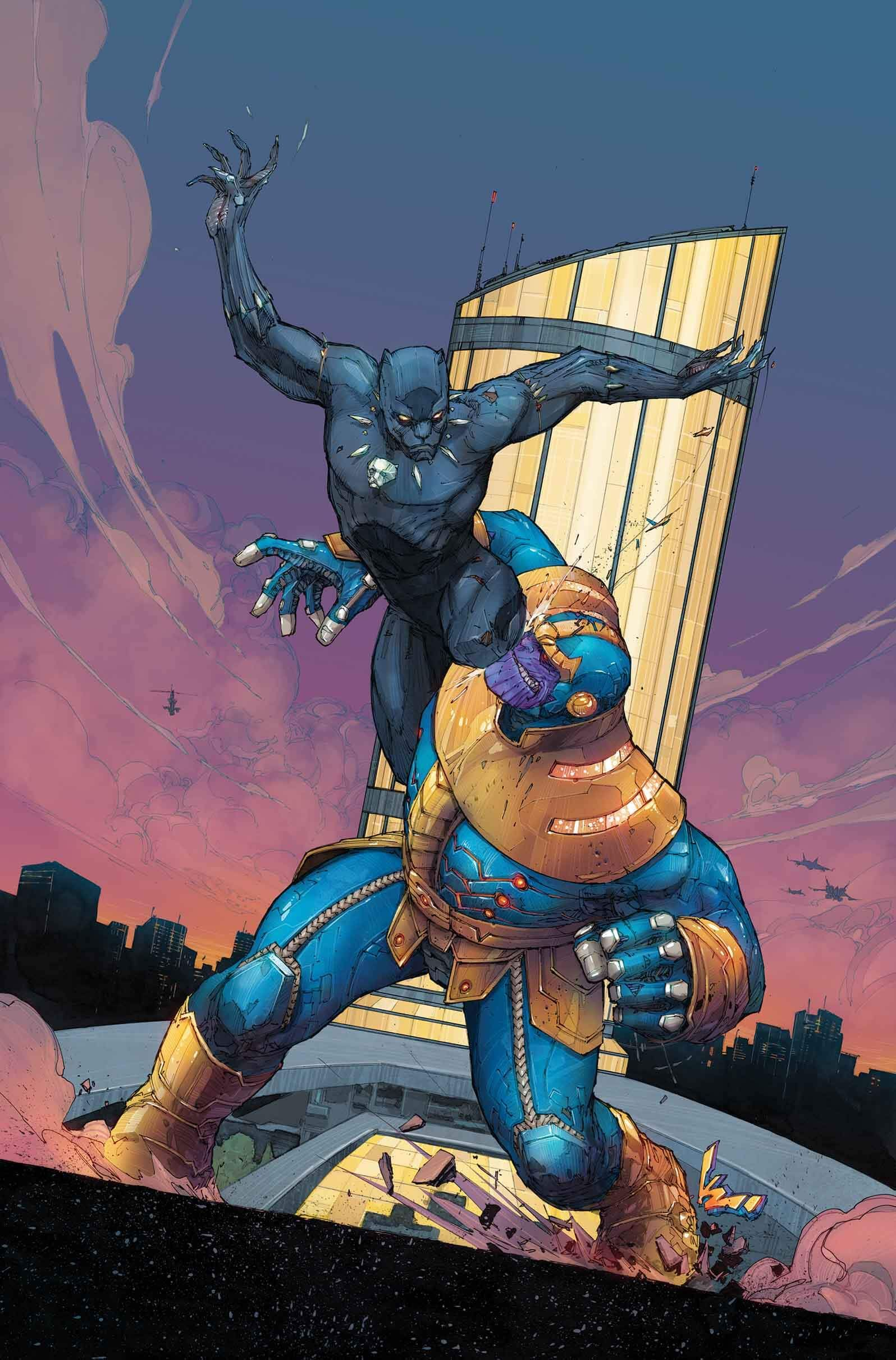 Black panther vs thanos art is life marvel comics - Gambar thanos ...