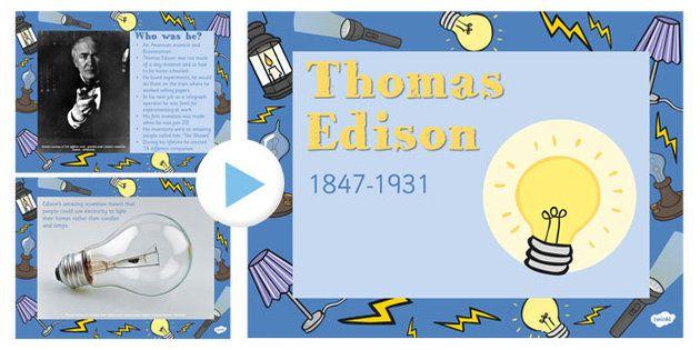 thomas edison powerpoint presentation thomas edison inventor