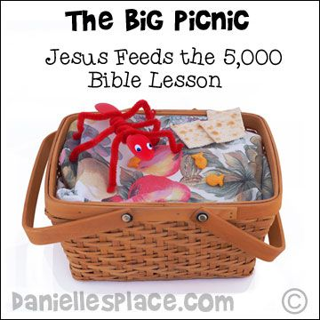 Jesus Feeds the 5,000 Bible Lesson, Crafts, and Games from www ...