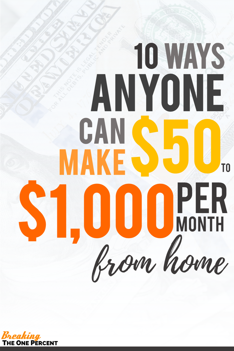 Make Money at Home: Top Ideas to Net at Least $1,000 per Month ...