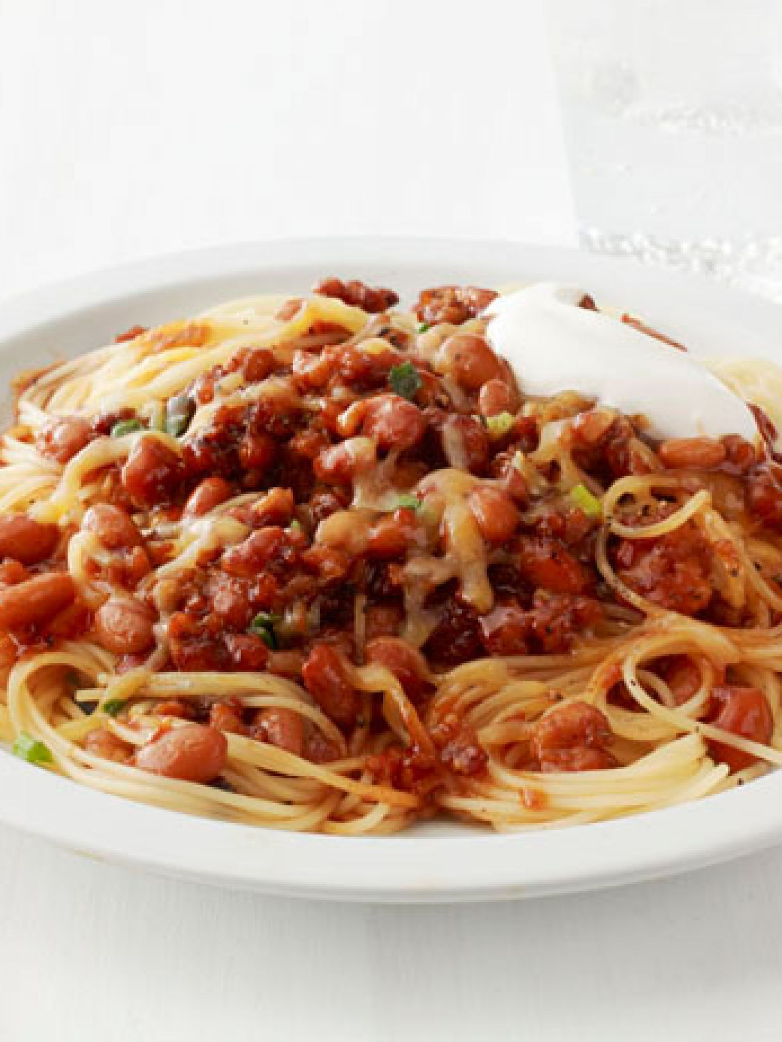 Spaghetti with quick turkey chili recipe turkey chili chili spaghetti with quick turkey chili forumfinder Choice Image