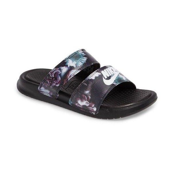 9e4968636b7e Women s Nike Benassi Duo Ultra Slide Sandal ( 45) ❤ liked on Polyvore  featuring shoes