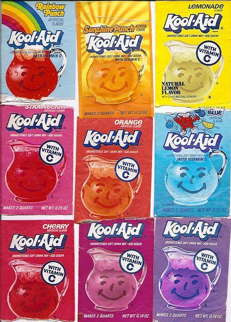 Old Kool Aid Drink Mix Packs B Childhood Memories Kool Aid Childhood