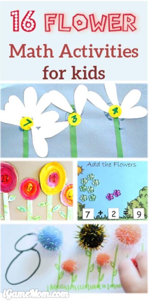 16 flower math activities for preschool and kindergarten kids math in kindergarten fun math. Black Bedroom Furniture Sets. Home Design Ideas