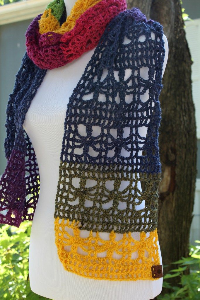 The Webster Mandala Scarf with a FREE Crochet Pattern | Pinterest ...