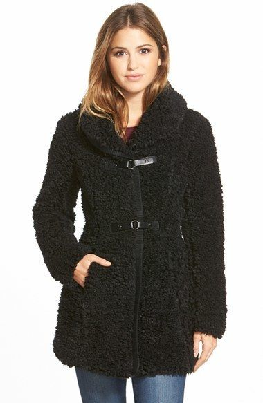 $210, Catherine Malandrino Catherine Snap Tab Closure Faux Fur Coat. Sold by Nordstrom. Click for more info: https://lookastic.com/women/shop_items/340808/redirect