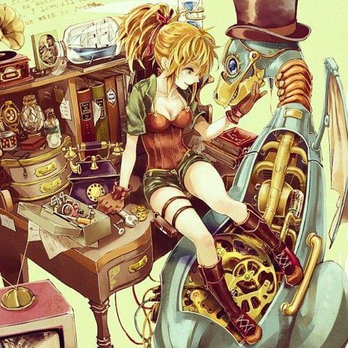 Tumblr M058vcdzhk1qcoshmo1 500 Large Steampunk Art Anime