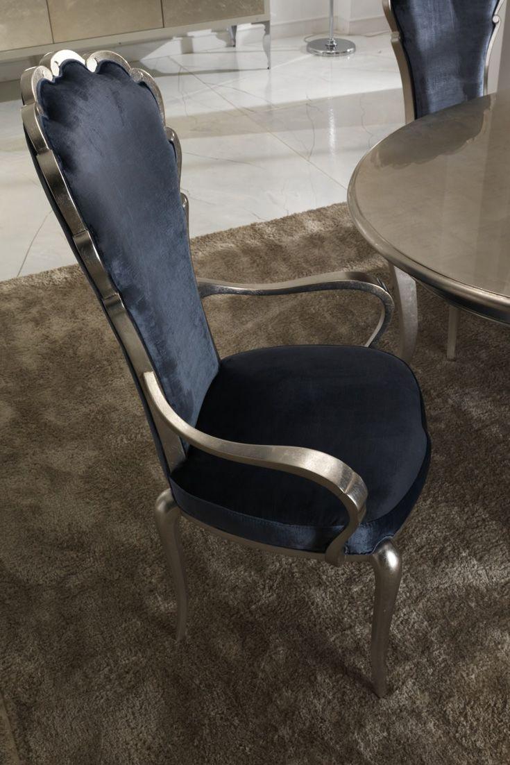Italian Navy Blue Velvet Dining Chair Blue velvet dining