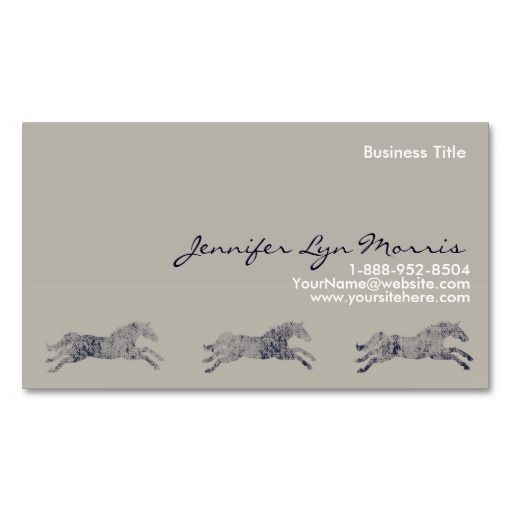 Classic Equestrian Business Card Zazzle Com Cards Business Cards Things To Come