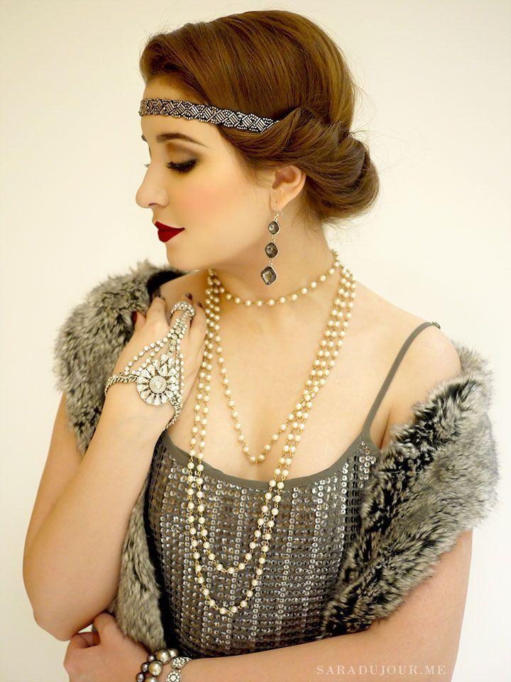 A 1920s Gatsby Christmas Party • Sara du Jour,  #1920S #20sfashionhairstyles #Christmas #GATS... #christmaspartyoutfit