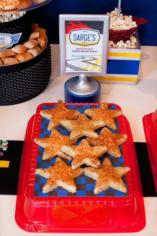 cars party star sandwiches
