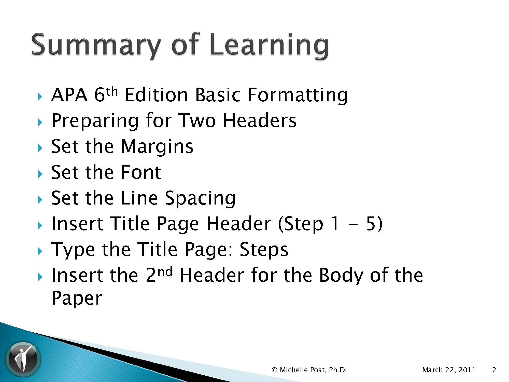 Pin By Dr Michelle Post Sms On Apa 6th Ed Writing Resource Center Apa 6th Edition Sample Resume Word 2007