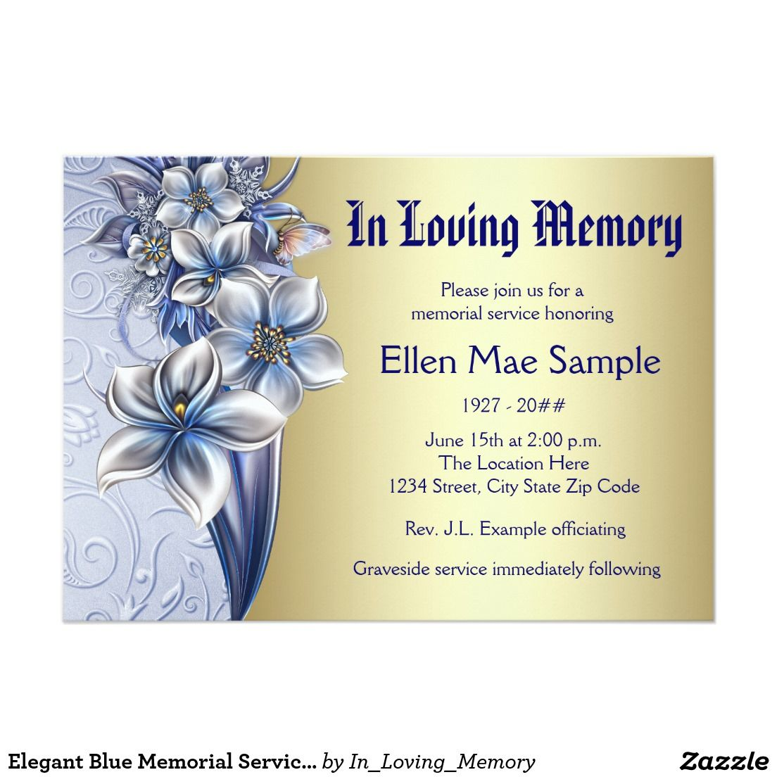 FREE Catholic Funeral Program Invitation Template ... |Funeral Services Announcement Cremation