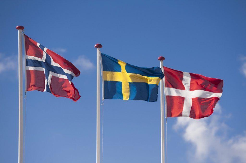 The Scandinavian Flags Norway Sweden And Denmark Scandinavia Scandinavia Flag Scandinavia Scandinavian Norway