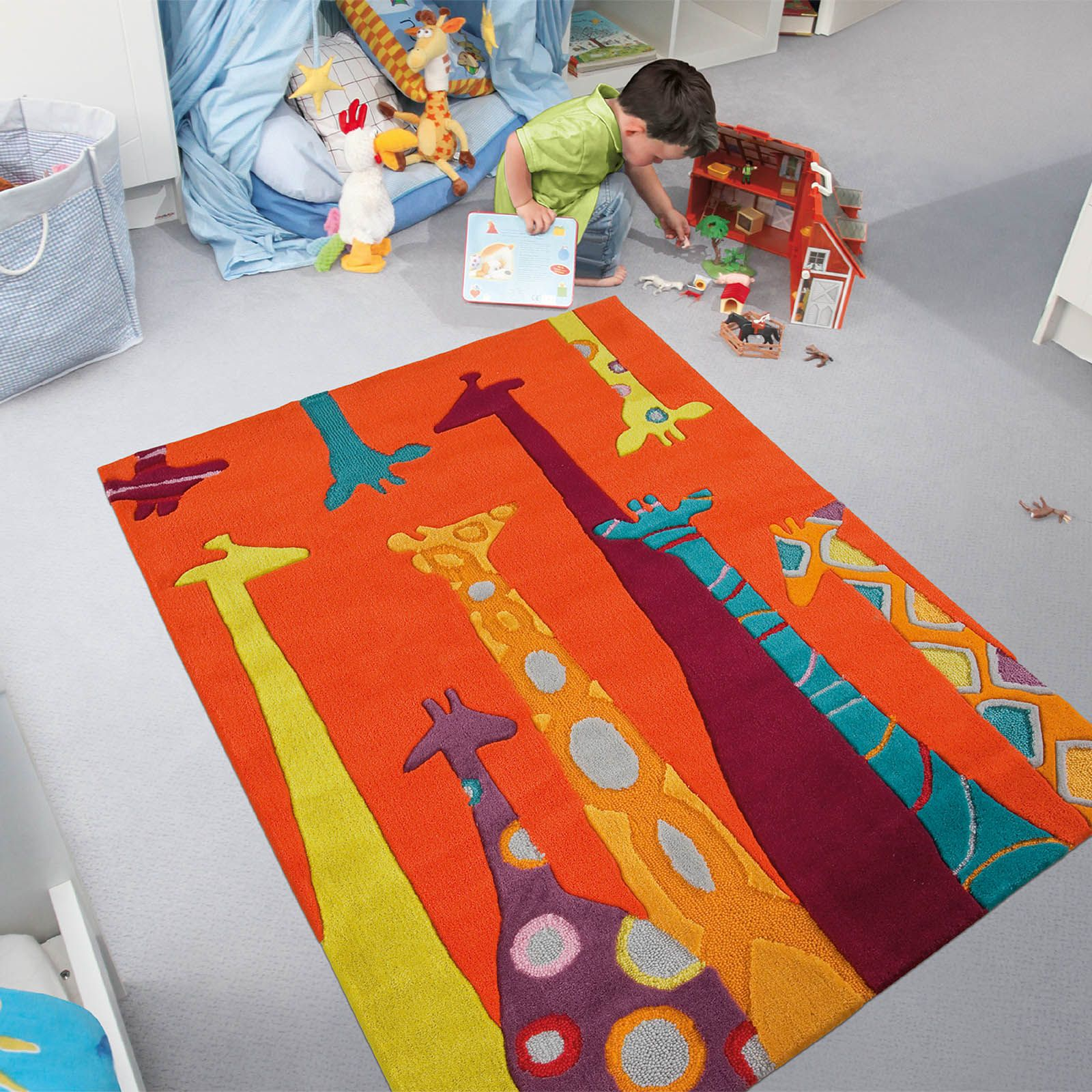 The Playful Rug Collection Is Handmade With A 100 Espirelle Acrylic Pile Which Provides