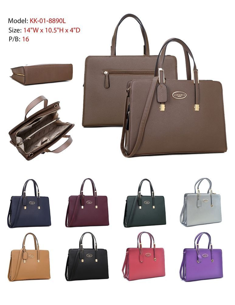6e1782ba3f Dasein New Women Faux Leather with Gold Tone Briefcase Laptop Bag Business  Bag  Dasein  BusinessCase