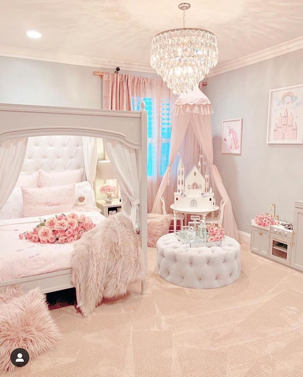 30 Pretty Princess Bedroom Design And Decor Ideas For Your Lovely Girl Trendedecor Pink Bedroom For Girls Girl Bedroom Decor Girly Bedroom