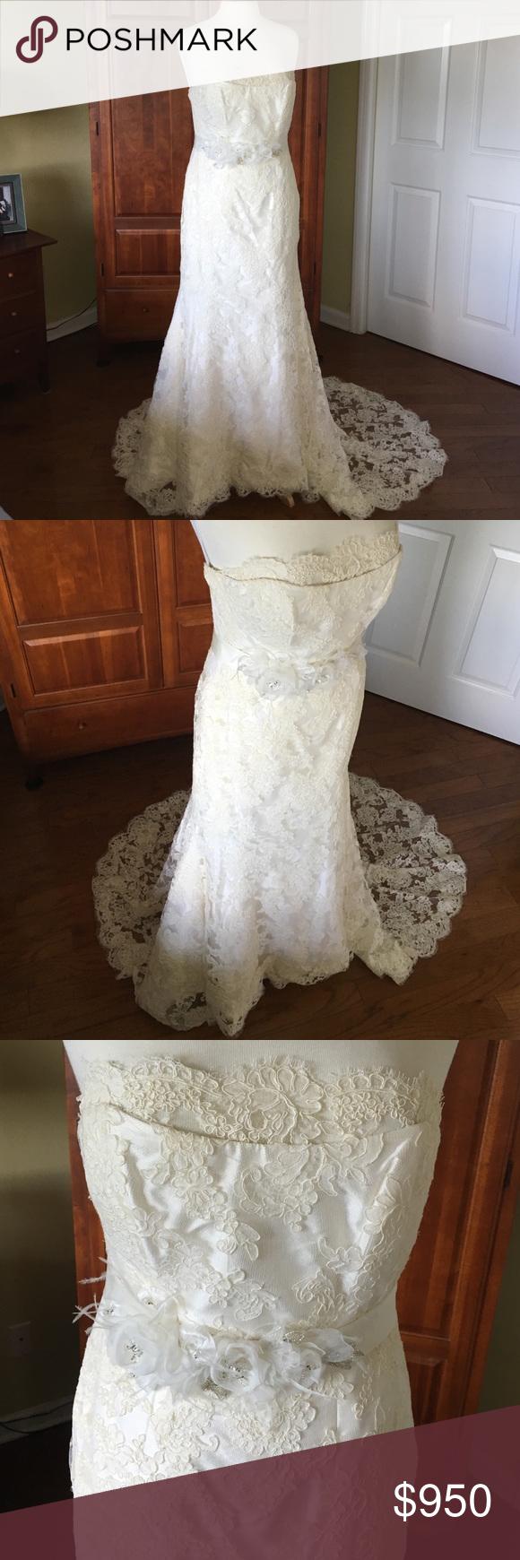Marisa wedding dress  Bridal Marisa Wedding Gown French Alencon lace Marisa  Wedding