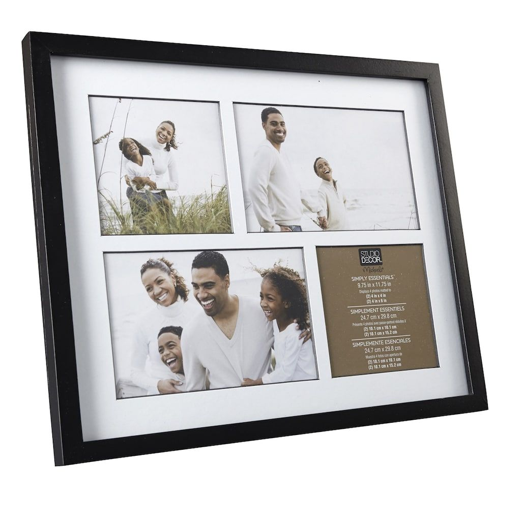Black 4 Opening Collage Frame Simply Essentials By Studio Decor In 2020 Collage Frames Studio Decor Collage Picture Frames