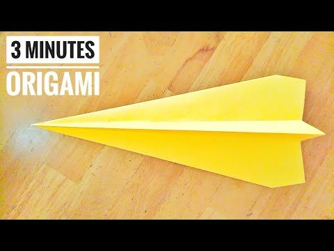 Photo of How to make EASY Origami Plane in 3 mins, HIGH SPEED, LONG RANGE, Beginners, Model # 1