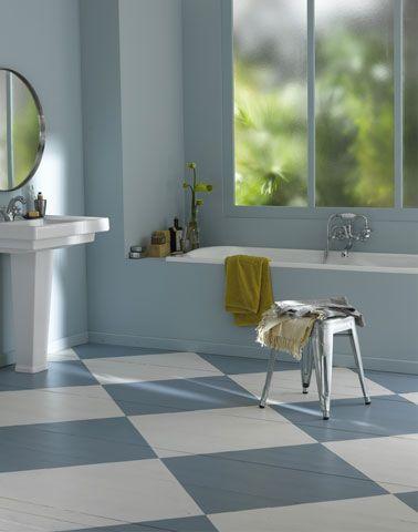 Peindre du carrelage sol dans la salle de bain Pinterest Blue - peindre le carrelage sol