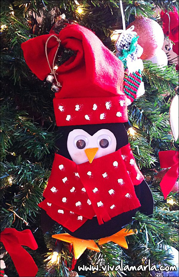 NoSew Easy Craft Penguin Sewing crafts, Christmas