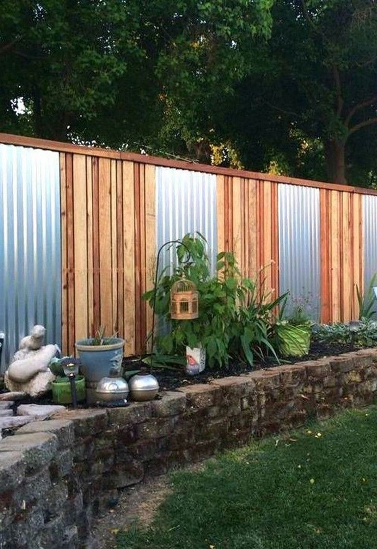 55 awesome fence ideas for back yard and front yard page on inexpensive way to build a wood privacy fence diy guide for 2020 id=61887